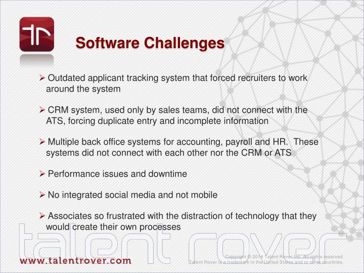 Software Challenges