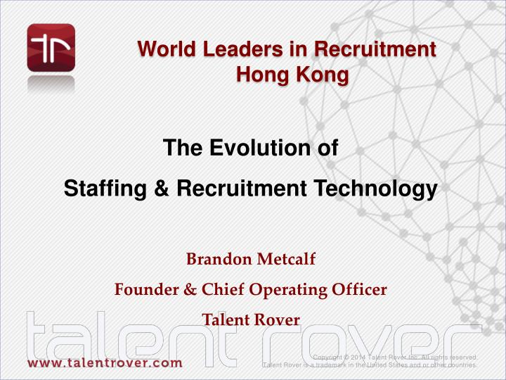 World leaders in recruitment hong kong