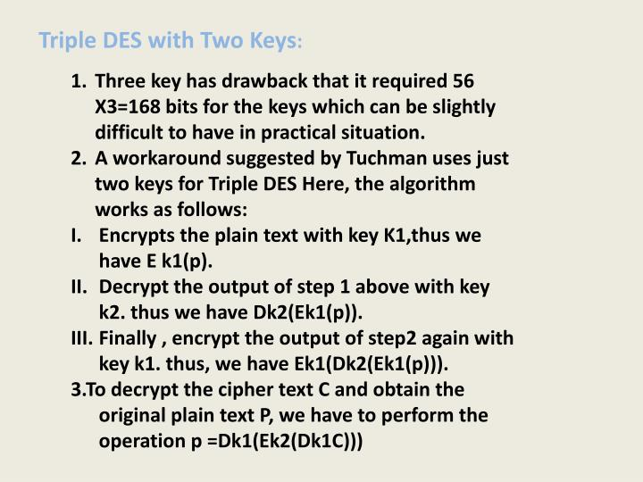 Triple DES with Two Keys