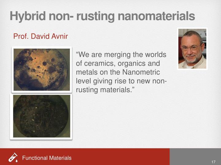 Hybrid non- rusting