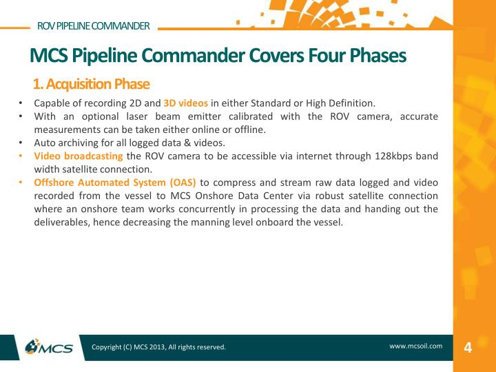 ROV PIPELINE COMMANDER
