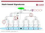 hash based signatures
