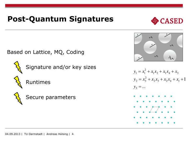 Post-Quantum Signatures