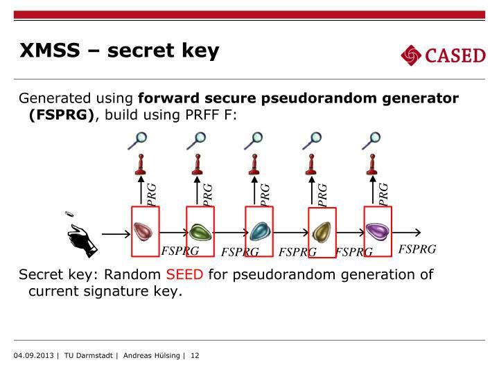 XMSS – secret key
