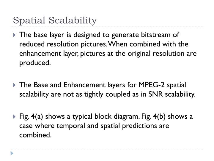 Spatial Scalability