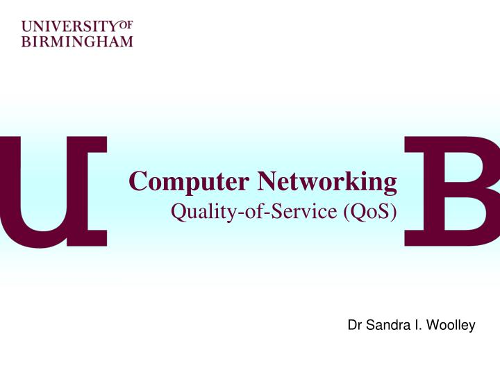 Computer networking quality of service qos