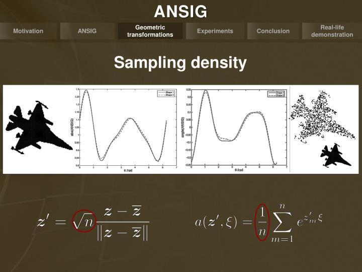 Sampling density
