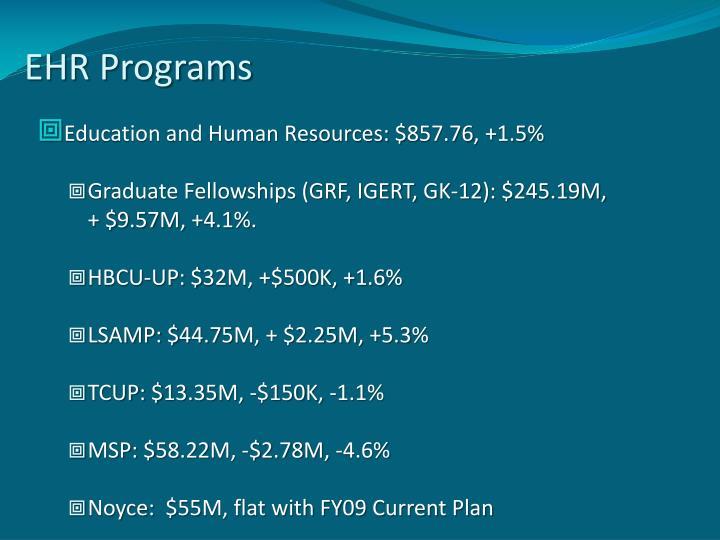 EHR Programs