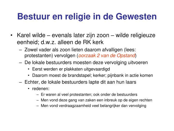 Bestuur en religie in de Gewesten