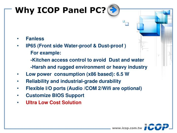 Why ICOP Panel PC?