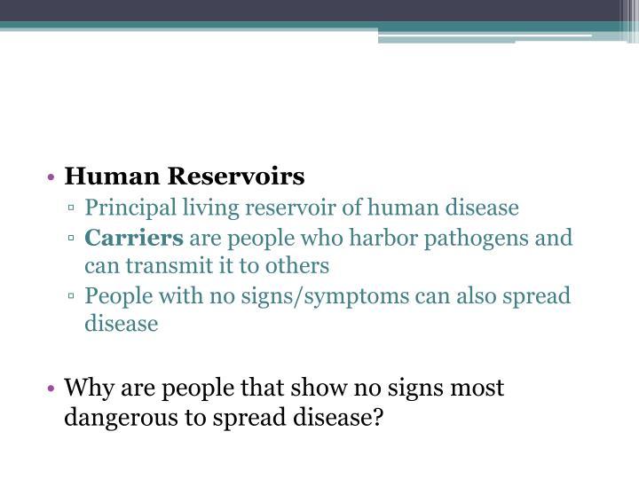 Human Reservoirs