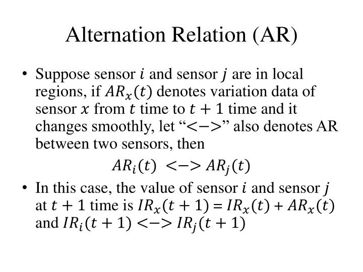 Alternation Relation (AR)