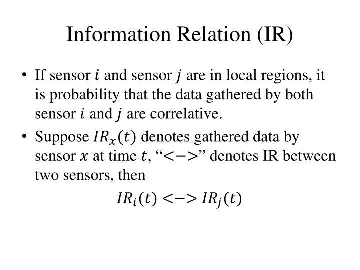 Information Relation (IR
