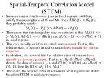 spatial temporal correlation model stcm