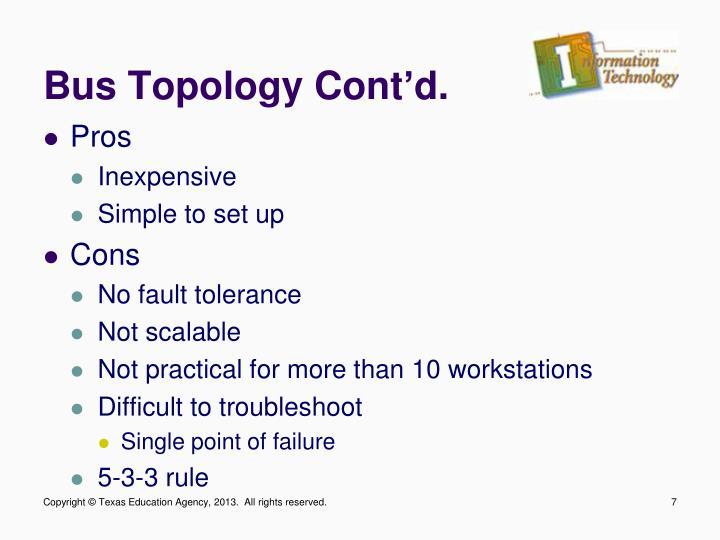 Bus Topology Cont'd.