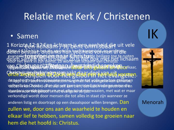 Relatie met Kerk / Christenen