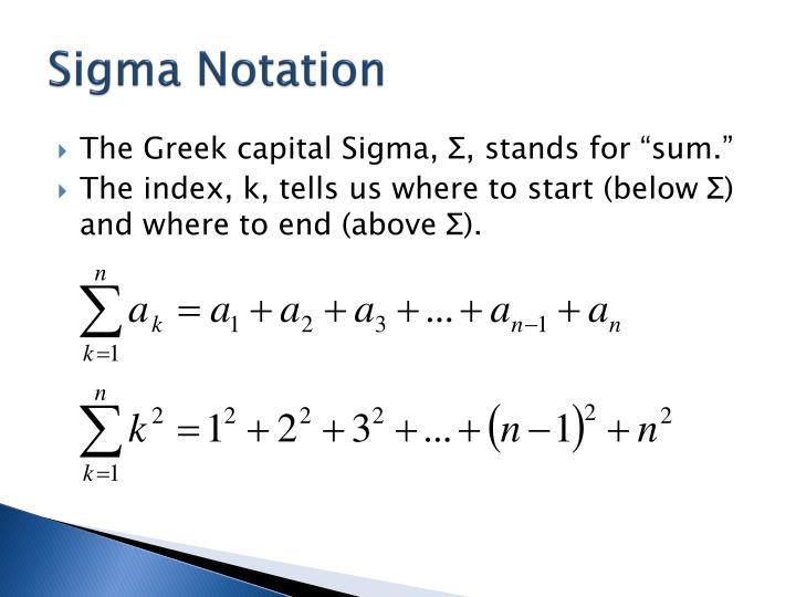 Sigma Notation