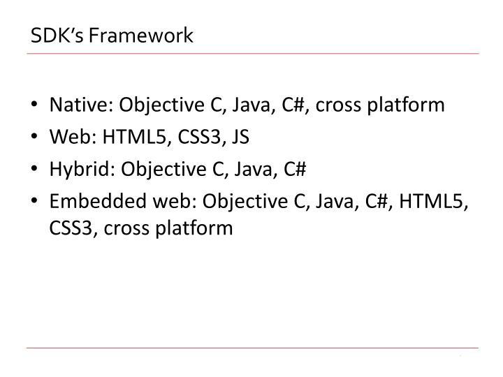 SDK's Framework