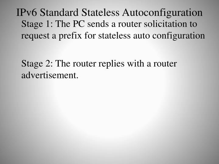 IPv6 Standard Stateless Autoconfiguration