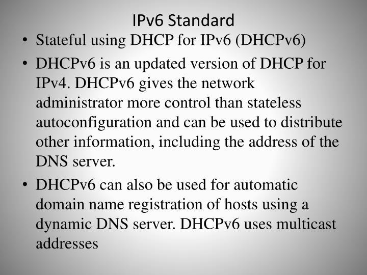 IPv6 Standard