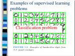 examples of supervised learning problems1