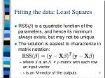 fitting the data least squares1