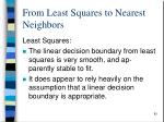from least squares to nearest neighbors