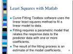 least squares with matlab