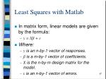 least squares with matlab2