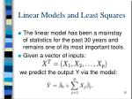 linear models and least squares