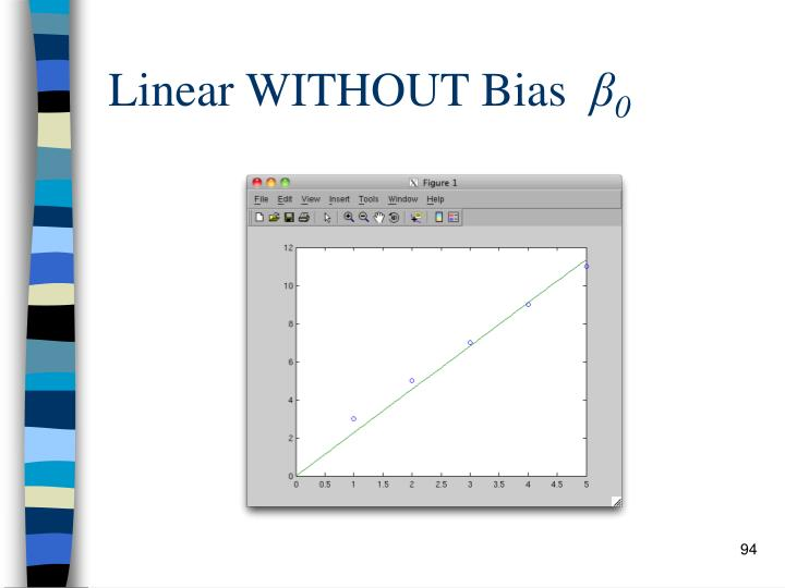 Linear WITHOUT Bias