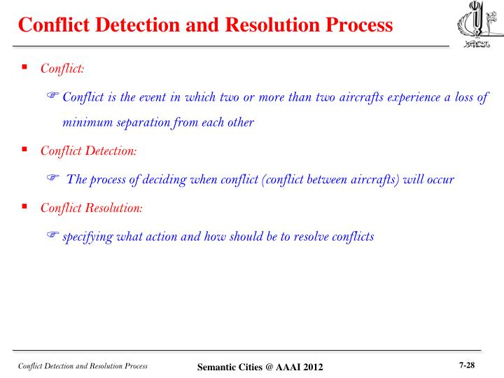 Conflict Detection and Resolution Process