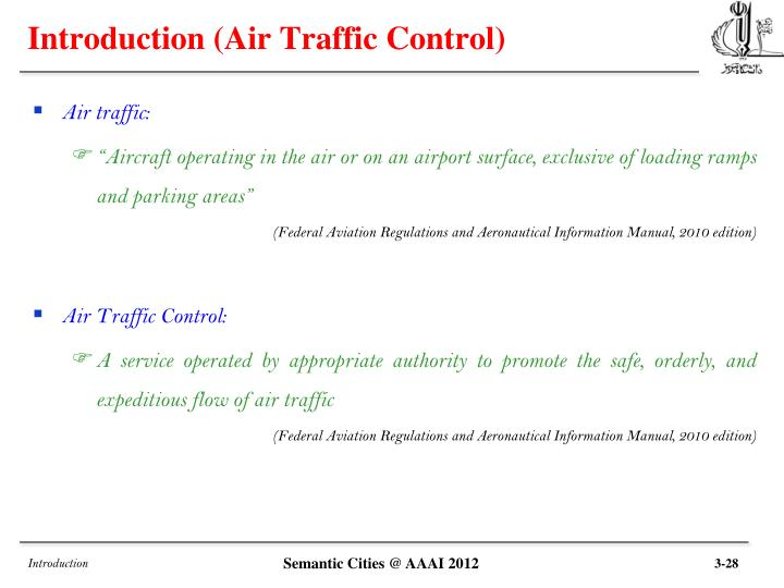 Introduction air traffic control