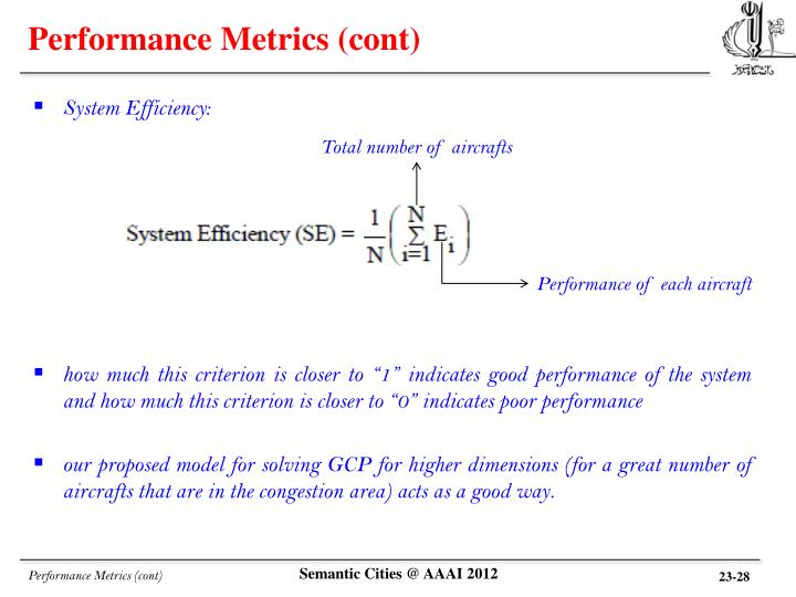 Performance Metrics (cont)