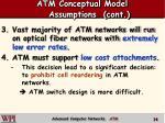 atm conceptual model assumptions cont