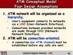 atm conceptual model four design assumptions
