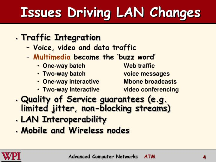 Issues Driving LAN Changes