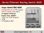 nortel ethernet routing switch 8600