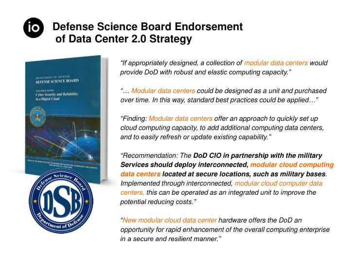 Defense Science Board Endorsement