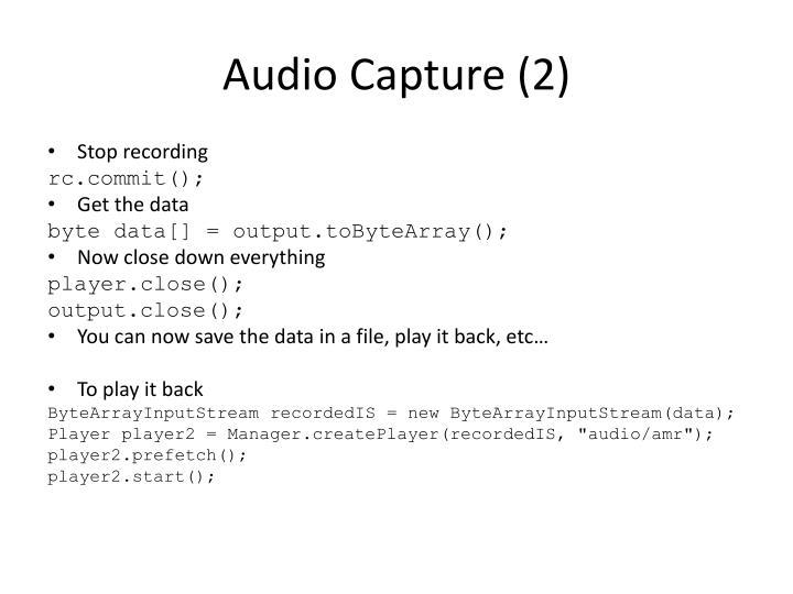 Audio Capture (2)