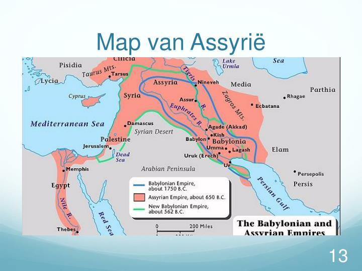 Map van Assyrië