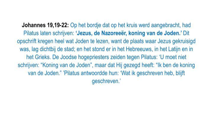 Johannes 19,19-22: