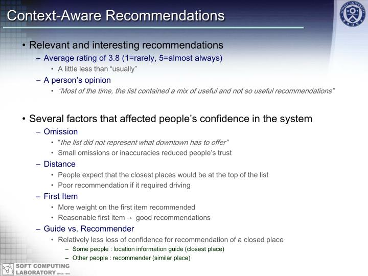 Context-Aware Recommendations