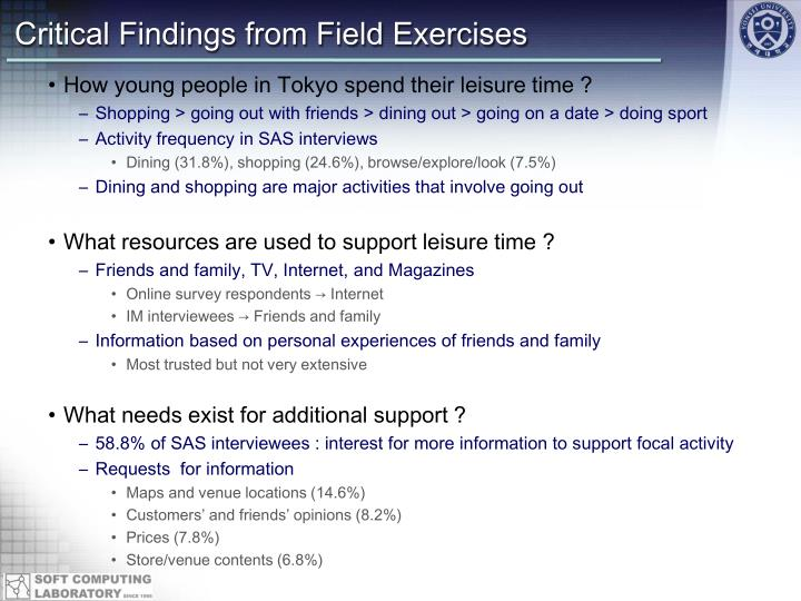 Critical Findings from Field Exercises