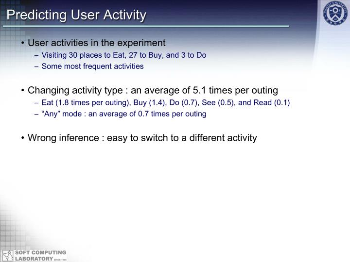 Predicting User Activity