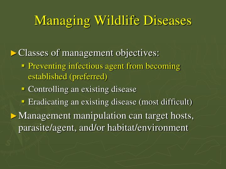 Managing Wildlife Diseases
