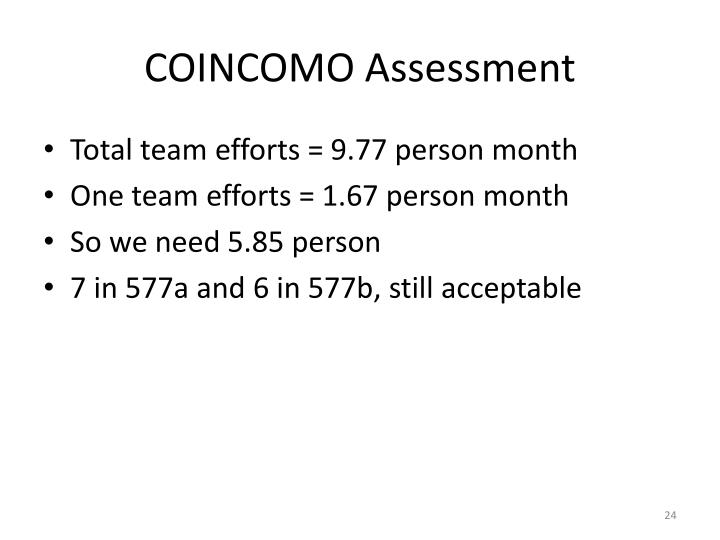 COINCOMO Assessment