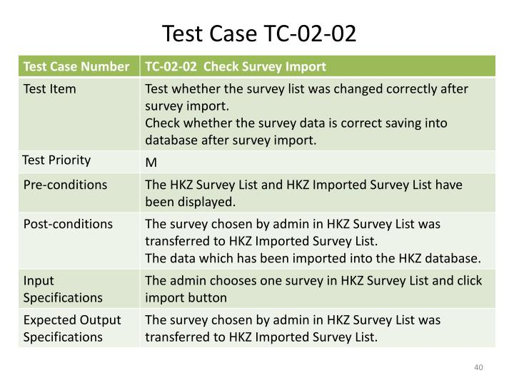 Test Case TC-02-02