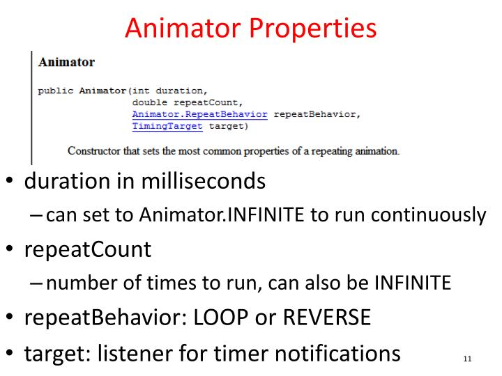 Animator Properties