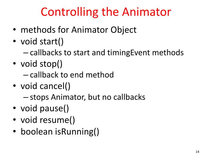 Controlling the Animator
